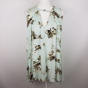 Free People xs tree swing tunic dress top floral